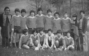 Hans-Peter (r.) als Trainer der C-Jugend-Meistermannschaft, 1979