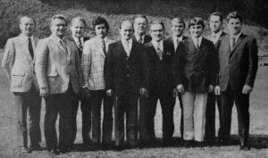 Hans-Peter (4. v. l.) als aktiver Beisitzer in seinem zweiten Jahr in der Vorstandschaft, 1973