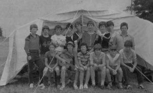 Zeltlager der Obertäler Fußballjugend auf der Katharinenhöhe in den 1970ern
