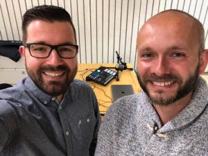 Sprecher in dieser Folge: Stephan Wehrle und Thomas Kaltenbach (v. l.)